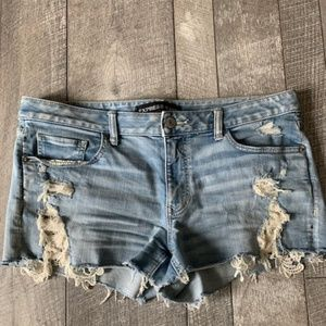 Distressed Lace Express Shorts